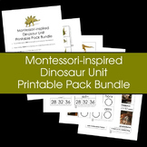 Montessori-inspired Dinosaur Unit Printable Pack Bundle