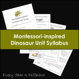 Montessori-inspired Dinosaur Unit Syllabus
