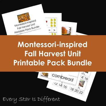 Montessori-inspired Fall Harvest Printable Pack Bundle
