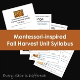 Montessori-inspired Fall Harvest Unit Study Syllabus