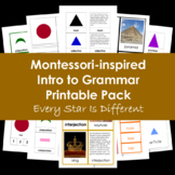 Montessori-inspired Intro to Grammar Bundle