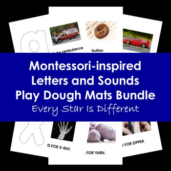Montessori-inspired Letters and Sounds Play Dough Mats Bundle