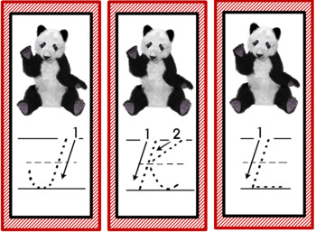 Montessori inspired Panda themed salt tray cards (China activities)