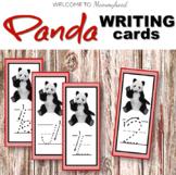 Montessori inspired Panda themed salt tray cards (China activities)
