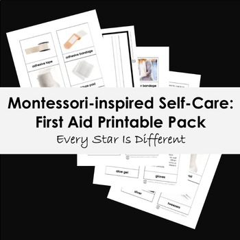 photo about First Aid Cards Printable named Montessori-influenced Self-Treatment: Very first Assist Printable Pack