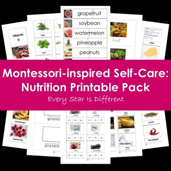 Montessori-inspired Self-Care: Nutrition Printable Pack