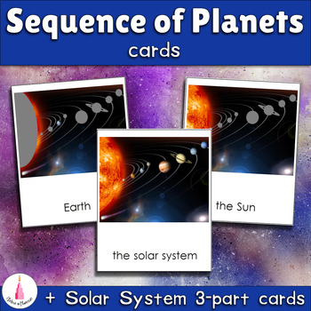Sequence of Planets Matching Cards + Solar System 3-part Cards
