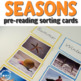 Montessori inspired seasons classification cards (perfect for pre reading)