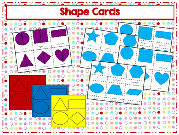Montessori inspired shapes cards