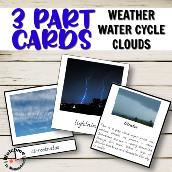 Montessori inspired weather and water cycle printables