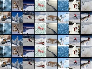 Montessori-inspired winter cutting strips