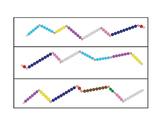 Making 10 snake game , three levels, with Montessori bead bars