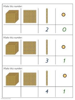 Montessori math: Golden Beads 'Make me' SAMPLE FREEBIE
