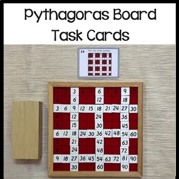 Montessori math: Pythagoras board task cards