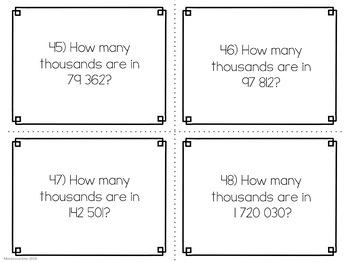 Montessori math: advanced place value task cards set 2