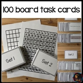 Montessori math: hundreds board task cards