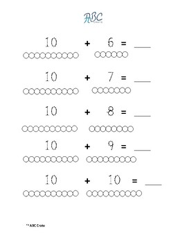 Montessori Math Worksheets For Numerals  By Abc Crate  Tpt