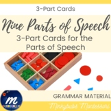 Montessori nomenclature 3-part cards and control book part