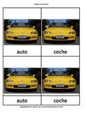 Montessori nomenclature cards in Spanish  Means of transport