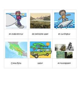 Montessori norsk mote design temakort