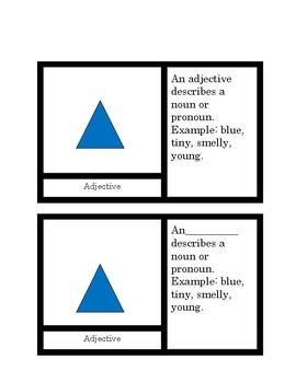 Montessori parts of speech symbols 4 part cards.