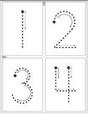 Montessori #s tracing 1-10 x 4 for cut