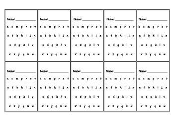 Montessori sandpaper letters student record tracking card (Printable)