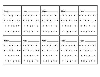 Montessori sandpaper letters student record tracking card