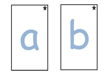 Montessori style trace and feel letters (lower case)