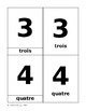 Montessori vocabulary 3-part cards numbers (1-10) French