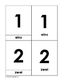 Montessori vocabulary 3-part cards numbers (1-10) German