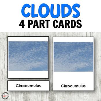 Montessori weather activities: clouds cards