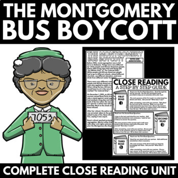Montgomery Bus Boycott - Black History Month Unit Poster Project and Information