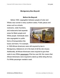 Black History Month-Montgomery Bus Boycott-Civil Rights Movement