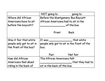 Montgomery Bus Boycott Graphic Organizer