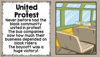 Montgomery Bus Boycott Power Point and Notes Sheet SS5Hb