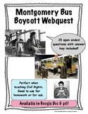 Montgomery Bus Boycott Webquest Civil Rights Movement