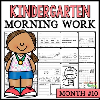 Month #10 Morning Work: Kindergarten Morning Work