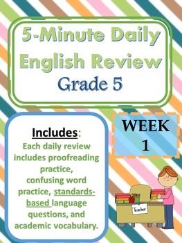 Month 3-- Daily ELA Practice--Common Core--Grade 5