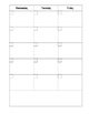 Month + 5 Week Blank Lesson Planner (Block Schedule)