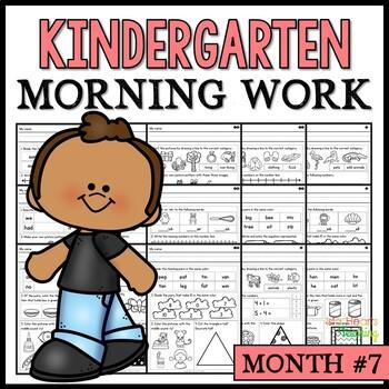 Month #7 Morning Work: Kindergarten Morning Work