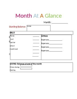 Month At A Glance