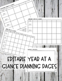 Month At a Glance Planning