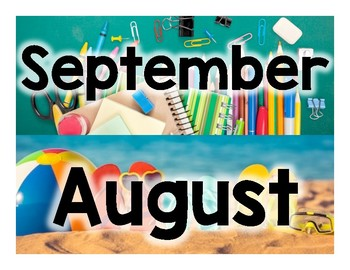 Month Calendar Headers