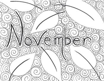Month Color Worksheets