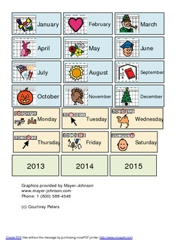 Month, Day, Weather file folder