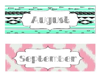 Month Decals (Calendars/Birthday Walls)