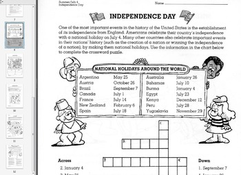 Month Files: June/Summer Fillers for Teachers