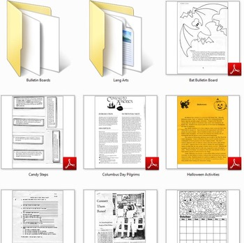 Month Files: October Fillers for Teachers