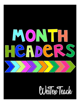 Month Headers